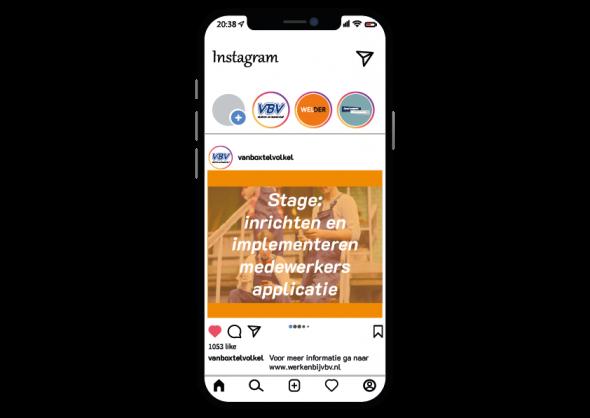 Stage: inrichten medewerkers app